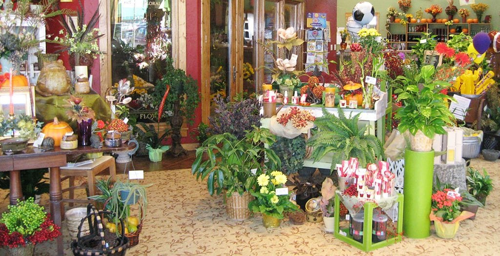 Interior of Jenny's Flower Shop