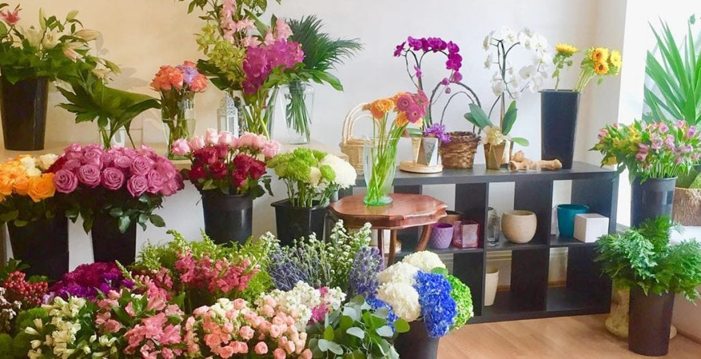 Interior of Nikkibana Floral Designs