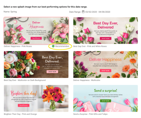 Lovingly Splash Hero images for florists following COVID-19 precautions