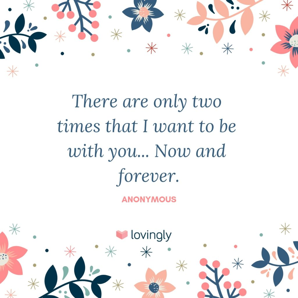 Now and Forever love quote