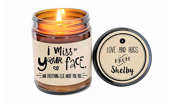 Miss your face candle