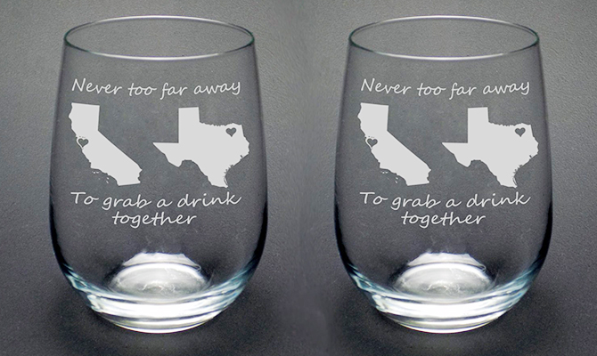 Long distance wine glasses