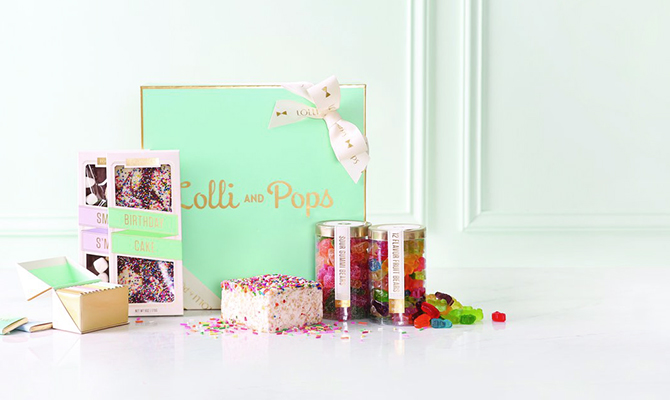 Lolli and Pops birthday gift box