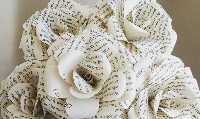 Make her gift extra meaningful by having an arrangement made from the pages of her favorite novel.